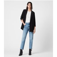 AllSaints Women's Regular Fit Traditional Aleida Blazer, Black, Size: 2