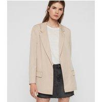 AllSaints Women's Regular Fit Alva Blazer, Pink, Size: 12