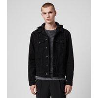 AllSaints Men's Cotton Burnby Denim Jacket, Black, Size: S