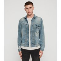 AllSaints Men's Cotton Regular Fit Isidro Denim Jacket, Blue, Size: M