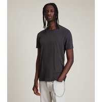 AllSaints Men's Cotton Regular Fit Figure Crew T-Shirt, Black, Size: L