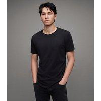 AllSaints Men's Cotton Regular Fit Figure Crew T-Shirt, Black, Size: XL