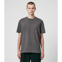 AllSaints Men's Cotton Musica Crew T-Shirt, Grey, Size: S