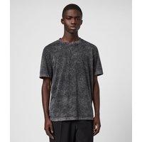 AllSaints Men's Cotton Relaxed Fit Sett Crew T-Shirt, Black, Size: S