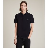 AllSaints Mens Navy Blue Cotton Essential Reform Polo Shirt, Size: XS