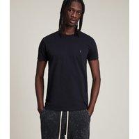 AllSaints Men's Cotton Slim Fit Regular Tonic Crew T-Shirt, Navy, Size: S