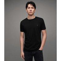 AllSaints Men's Cotton Slim Fit Regular Tonic Crew T-Shirt, Black, Size: S