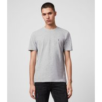 AllSaints Men's Cotton Regular Fit Brace Tonic Short Sleeve Crew T-Shirt, Grey, Size: XS