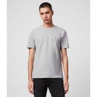 AllSaints Men's Cotton Regular Fit Brace Tonic Short Sleeve Crew T-Shirt, Grey, Size: XXL