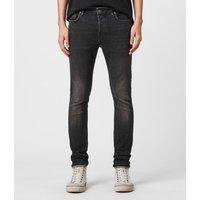 AllSaints Men's Cotton Cigarette Skinny Jeans, Black, Size: 30