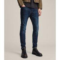 AllSaints Men's Cotton Cigarette Skinny Jeans, Blue, Size: 30