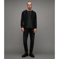 AllSaints Men's Cotton Regular Fit Brace Hoodie, Black, Size: M