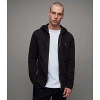 AllSaints Men's Cotton Slim Fit Raven Hoodie, Black, Size: M