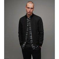 AllSaints Men's Cotton Regular Fit Bassett Bomber Jacket, Black, Size: XS