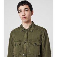 AllSaints Men's Cotton Colridge Jacket, Green, Size: S
