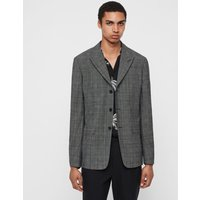 AllSaints Men's Wool Check Slim Fit Bulmer Blazer, Grey, Size: 38