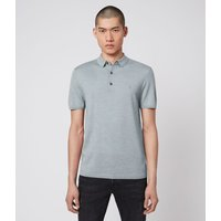 AllSaints Mode Merino Short Sleeve Polo Shirt