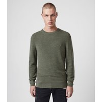 AllSaints Men's Merino Wool Regular Fit Ivar Crew Jumper, Green, Size: XXL