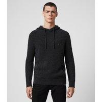 AllSaints Men's Cotton Tolnar Hoodie, Black, Size: XXL