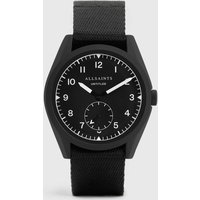 AllSaints Untitled I Matte Black Stainless Steel and Black Nylon Watch