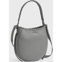 AllSaints Women's Leather Adina Small Hobo Bag, Grey