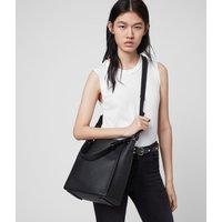 AllSaints Women's Leather Kita Crossbody Bag, Black