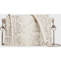 AllSaints Fletcher Snake Leather Crossbody Bag