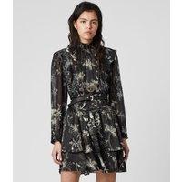 AllSaints Aislyn Silk Blend Evolution Dress