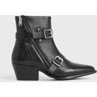 AllSaints Women's Cow Leather Lior Boots, Black, Size: UK 3/US 5/EU 36