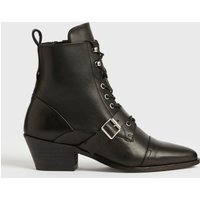 AllSaints Women's Leather Katy Boots, Black, Size: UK 3/US 5/EU 36