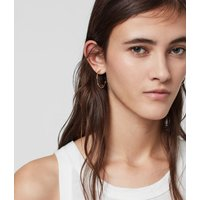 AllSaints Women's Serena Tone Semi-Precious Pyrite Hoop Earrings, Gold