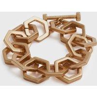 AllSaints Hexlink Gold-Tone Bracelet