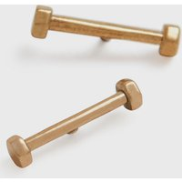 AllSaints Hexstud Gold-Stone Stud Earrings