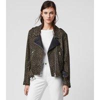 AllSaints Luna Leo Leather Biker Jacket