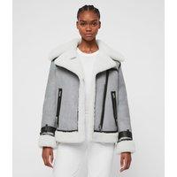 AllSaints Priya Shearling Biker Jacket