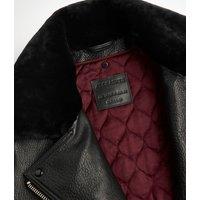 AllSaints Women's Leather Maizie 2-in-1 Biker Jacket, Black, Size: S