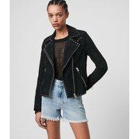 AllSaints Dalby Western Leather Biker Jacket