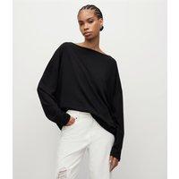 AllSaints Women's Rita Top, Black, Size: S