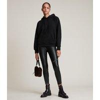 AllSaints Women's Cotton Talon Hoodie, Black, Size: M
