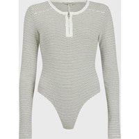 AllSaints Alicia Long Sleeve Stripe Bodysuit