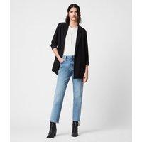 AllSaints Women's Regular Fit Traditional Aleida Blazer, Black, Size: 10