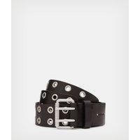 AllSaints Women's Leather Iryna Belt, Black, Size: L/XL