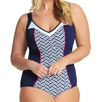 Chevron Moulded Cups Swimsuit