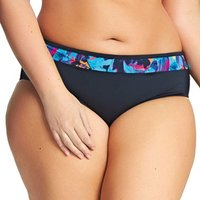 Abstract Mid Rise Swim Briefs