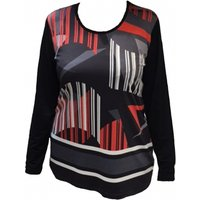 Long Sleeve Abstract Jersey Top