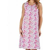 Flower Print Cotton Sleeveless Nightdress