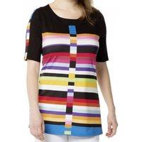 Rainbow Striped Tunic Top
