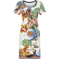 Tropical Short Sleeve Loungewear Dress