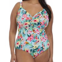 Aloha Moulded Cup Adjustable Neckline Swimsuit
