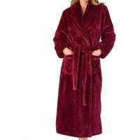Flannel Fleece Shawl Collar Wrap Housecoat